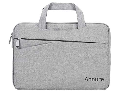 Annure Polyester 15.6 inch 360 Degree Protective Laptop Messenger Sleeve Bag for Men (Grey)