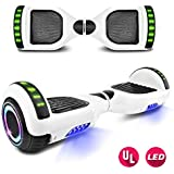 Otter Star Sunrise Series Electric Hoverboard with Built-in LED Side Lights Self Balancing Scooter Hover Board UL2272 Certified (White)