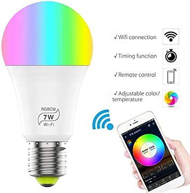 /équivalent 60 W Echo Google Home /& Siri Peaches Stores Smart Ampoule LED 7 W WiFi Smart Bulb sans hub Compatible avec Alexa