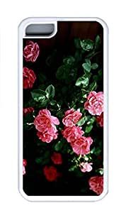 iPhone 5C Case, Personalized Custom Rubber TPU White Case for iphone 5C - Pink Roses Cover