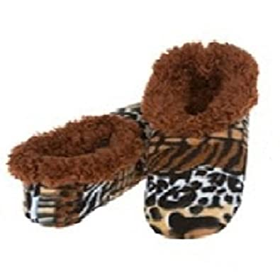 9a5f2741de9 Womens Ladies Adult Snoozies Modern Animal Small Medium Large Novelty  Slippers  Amazon.co.uk  Shoes   Bags