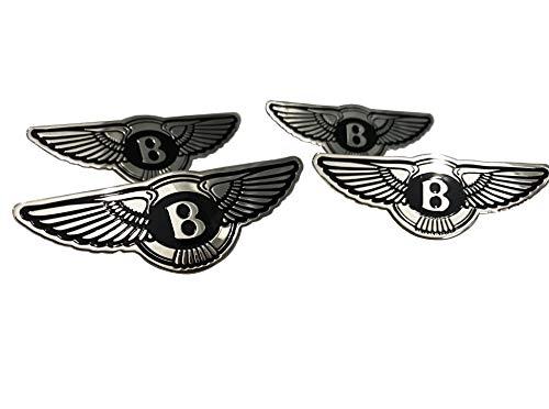 Bentley Style - Seat Badges - Seats Logo Metal Emblem Set for Bentley Bentayga Continental GT Flying Spur Mulsanne and Other Models - Set of 4 pcs