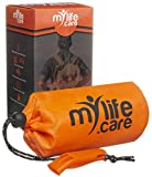 MyLifeCare Emergency Sleeping Bag: Ultimate Bivvy Survival Sleeping Bag, Survival Gear - Includes Bivy Sack, Emergency Whistle + Paracord String, Mylar Blanket, Survival Gear Kit, Emergency Blanket
