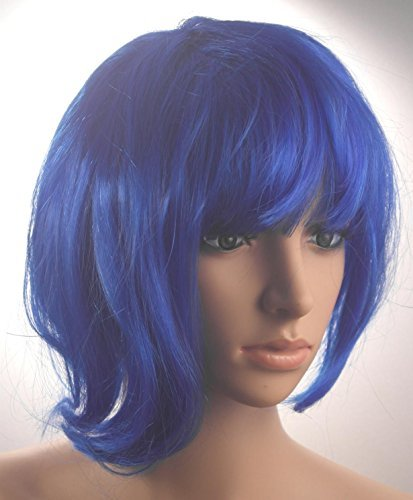 Fashionable Pretty Short Blue Bob Babe Wig Girls Ladies 20s 60s 70s 80s 90s Fancy Dress Party Cosplay Hairstyle by BFD by BFD