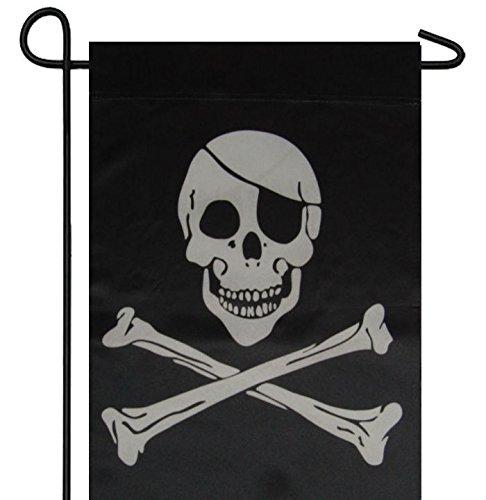 12x18 Printed Jolly Roger Pirate Eye Patch Garden Flag 12