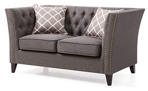 Awe Inspiring Amazon Com Glory Furniture Flair Love Seat Gray Living Pabps2019 Chair Design Images Pabps2019Com