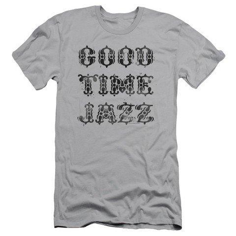Good Time Jazz Gtj Vintage Mens Slim Fit Shirt  Silver  Large