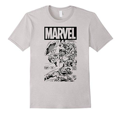 Marvel+Comics+Retro+Shirt Products : Marvel Captain America Retro Comic Panels Graphic T-Shirt