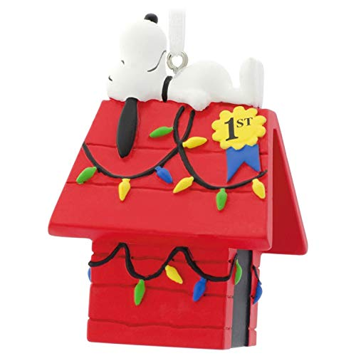 Hallmark Peanuts Snoopy on Doghouse Christmas Ornaments, Dog House
