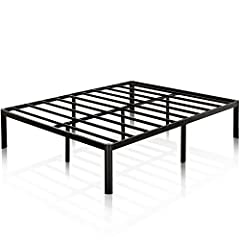 The Van steel 16 inch metal platform bed by Zinus provides strong support for your memory foam, latex, or spring mattress. This platform bed is 16 inches high with clearance under the frame for valuable under bed storage. The Zinus Van metal ...
