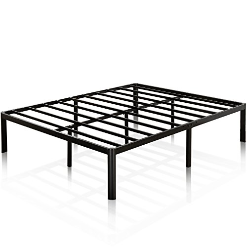 Zinus Van 16 Inch Metal Platform Bed Frame with Steel Slat Support / Mattress Foundation, King
