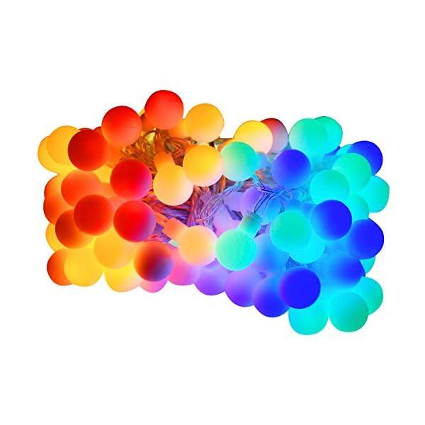Luce della stringa,Tececu luce decorativa esterna 100 Palla LED USB, Catene Luminose 10M con 8 Modalità, per Interno/Esterno, Feste, Giardino, Natale, Matrimonio, Albero di Natale, Terrazzo 1 spesavip
