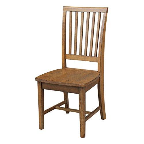 International Concepts C59-265P Mission Chair, Set of 2, Pecan
