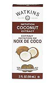 Watkins All Natural Extract, Imitation Coconut, 2 Ounce (Pack of 6)  (Packaging may vary)
