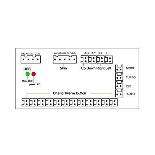 Droya Zero Delay Arcade USB Encoder Pc to Joystick for Mame Jamma /& Other Pc Fighting Games for 2pin Joystick + Sanwa Style Push Button