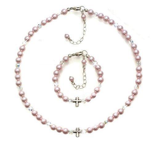 Amazon christening gifts baptism jewelry set personalized christening gifts baptism jewelry set personalized baby jewelry baby bracelet baby necklace negle Images