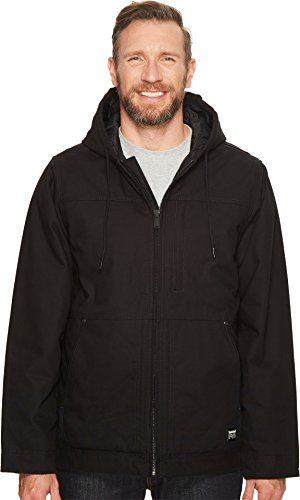 Timberland PRO Men's Big Baluster Insulated Hooded Work Jacket, Jet Black, X-Large/Tall - Hooded Work Jacket
