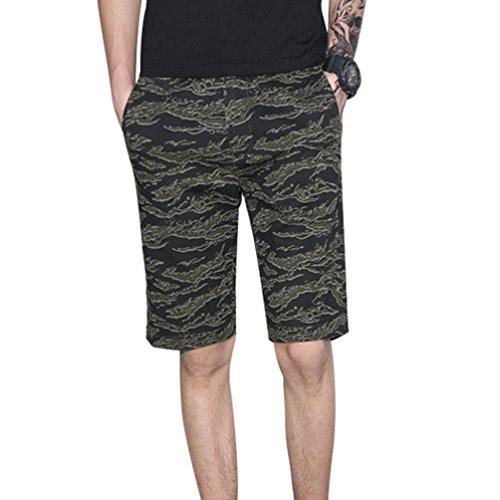 57c0665790 Yiiquan Hombres Cortos Pantalones Cargo Verano Cortos Deporte Imprimir  Shorts Playa Cortos outlet