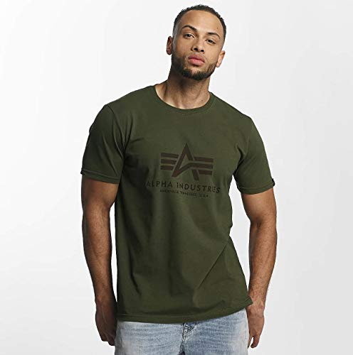 T Para Alpha 461864 Verde Basic Industries Hombre shirt Camiseta OwcCHcqU