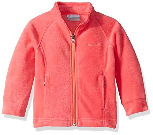 Columbia Girls' Toddler' Benton Springs Fleece, Bright Geranium/hot Coral, 2T ()