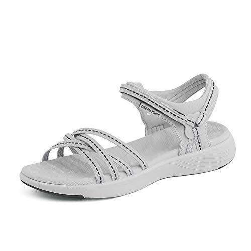 (DREAM PAIRS Womens Athletic Sports Sandals Lightweight Hiking Sandals Grey Size 11 M US 181102 )