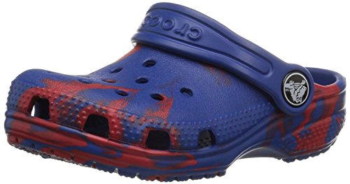 crocs Kids' Classic Graphic K Clog,red/blue,1 M US Little Kid (Red Croc Pattern)