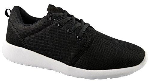 Chaussures De Course En Cuir Synthétique Dek Noir