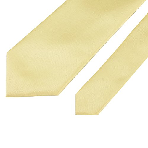in Neck Party Classic Men Ties for Polyester Solid Colors Pure Satin Plain Color Neckties Formal cream Yellow 13 Wedding 22 Work 6wO6nZWrx