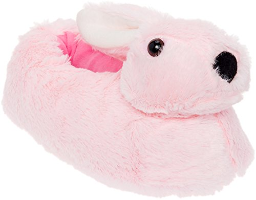 Silver Lilly Classic Bunny Slippers - Plush Animal Slippers (Pink, XX-Large) (Crap Eye Wear)