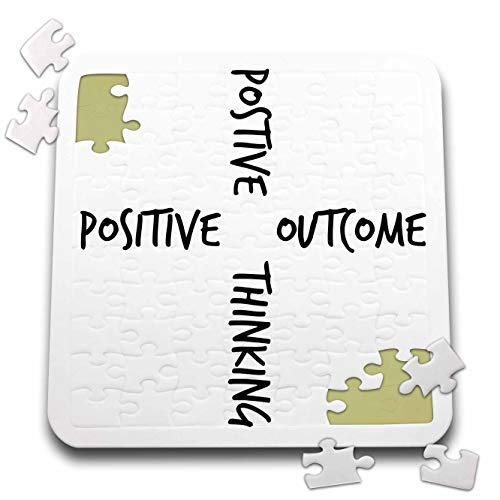 3dRose Gabriella B - Quote - Image of Positive Thinking Positive Outcome Quote - 10x10 Inch Puzzle (pzl_304133_2)