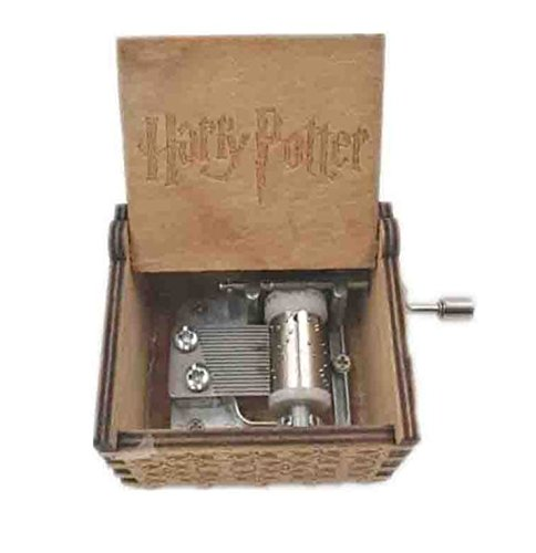 Tallado antiguo Harry Potter caja de música juego de tronos caja de música star wars mano de madera manivela tema música,...