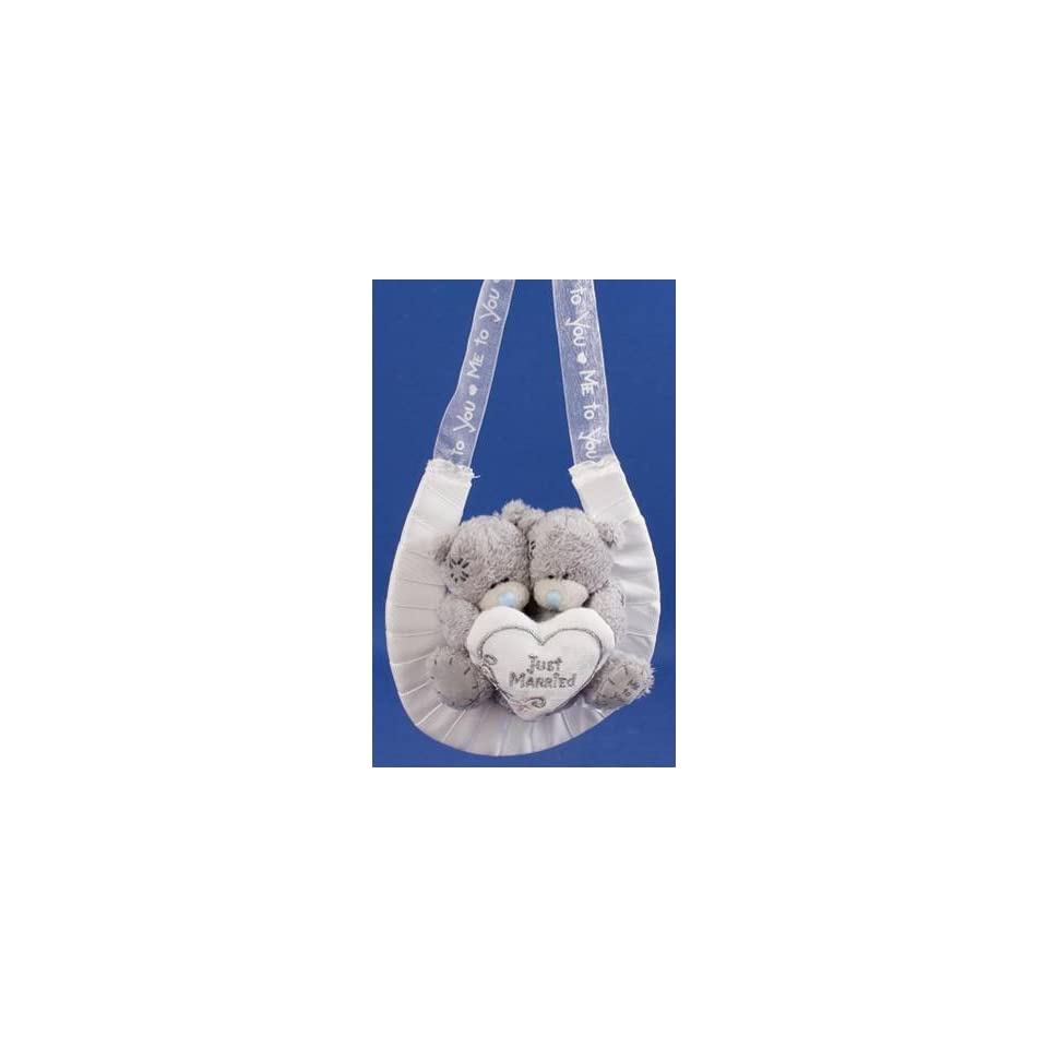 Me to You Tatty Teddy Bear Couple 2.5 (7.62 Cm) Just Married Horse Shoe