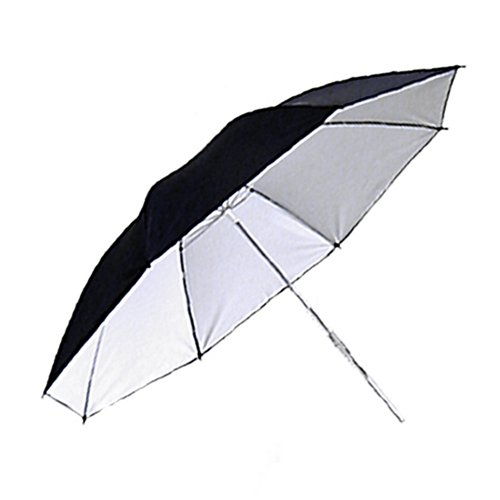 Umbrella 33in White Black Reflective Photo Umbrella Photo Video by PBL