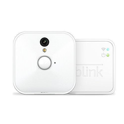 Blink Indoor Home Security Camera System with Motion Detection, HD Video, 2-Year Battery Life and Cloud Storage Included - 1 Camera Kit (Wireless Outdoor Motion Sensor With Indoor Alert)