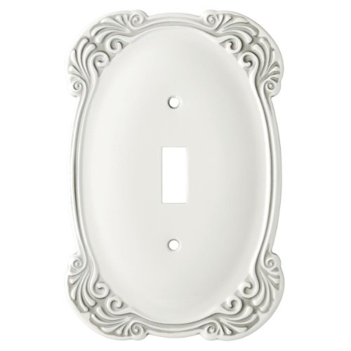 Franklin Brass 144398 Arboresque Single Toggle Switch Wall Plate / Switch Plate / Cover (Antique Roses Plate)