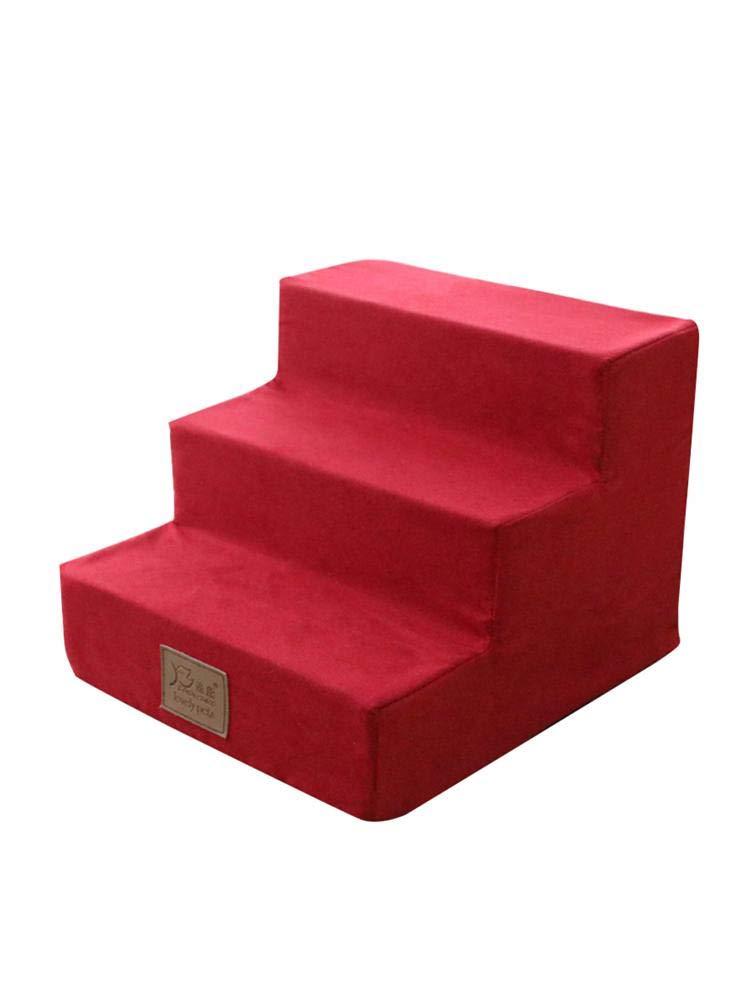 Eventualx Pet Stairs Scala per Gatti E Cani Lavabile per Scale per Animali Domestici per Divano E Letto Rampicanti 14,96 11,81 15,75 Pollici Cotone Ad Alto Rimbalzo