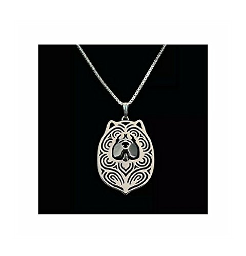 Price comparison product image Chow Chow Dog Necklace Silver-Tone