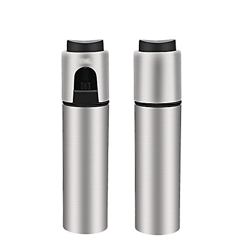 Oil Sprayers , Flight Olive Oil Sprayer Mister Oil Spray Bottle Transparent Glass Spray Bottle Vinegar Bottle Oil Dispenser Seasoning Kitchenware Tools (Silver-New)