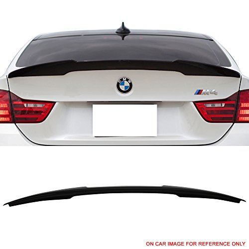 Pre-Painted Trunk Spoiler Fits 2014-2017 BMW 4-Series F32 | M4 Style #475 Black Sapphire Metallic ABS Rear Wing by IKON MOTORSPORTS | 2015 2016 ()