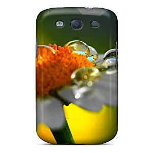 Awesome Daisy Raindrops Flip Case With Fashion Design For Galaxy S3