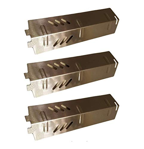ZLjiont 3-pack Stainless Steel Heat Plate, Burner Cover, Flavorizer Bar Replacement for Gas Grill Model Backyard Grill BY13-101-001-11, BY14-101-001-01, BY16-101-002-05, Uniflame: GBC1329W, GBC1403W by ZLjiont