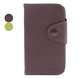 Microgroove Grain PU Leather Case for Sony Xperia E Dual C1605 (Assorted Colors) --- COLOR:Green
