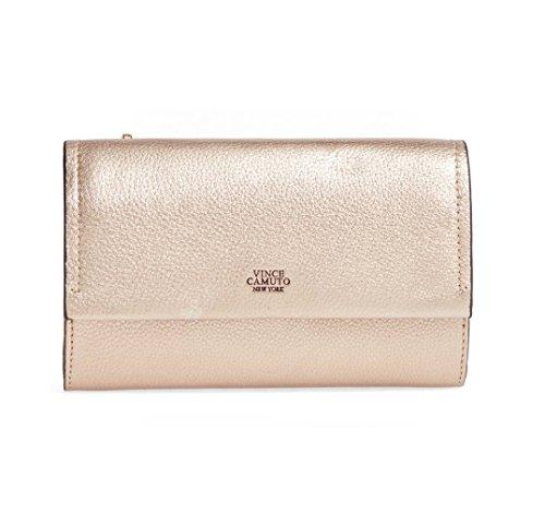 Vince Camuto Women's Zosia Crossbody Wallet Purse, Pale Gold