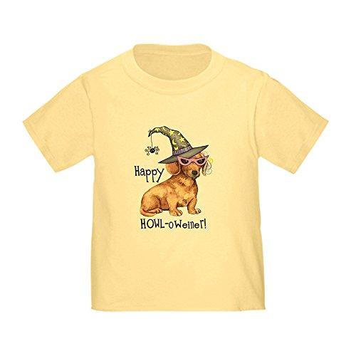 CafePress Halloween Dachshund Toddler T-Shirt Cute Toddler T-Shirt, 100% Cotton Daffodil -