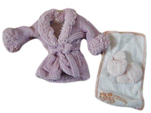 Fat-catz Accappatoio//vestaglia da notte asciugamano e ciabatte per bambole Barbie e Sindy colore: viola