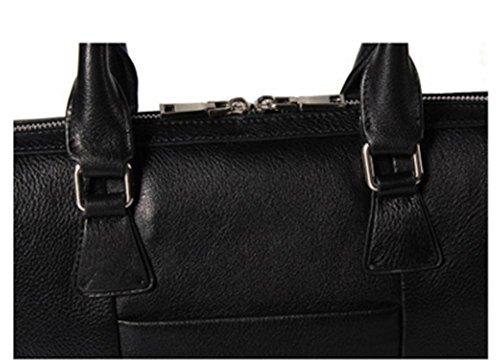 ZXH neue Handtasche Herren Leder Aktentasche High-End-Business Casual erste Schicht Leder Computer Tasche 0uL0L