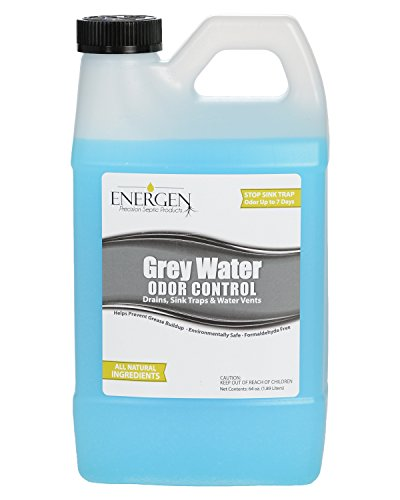 Energen Grey Water Tank Treatment - Holding Tank Odor Control and Cleaner - RV Water Tank Deodorizer - 64 Ounces by Energen