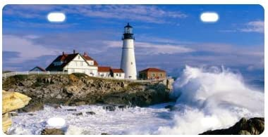 Lighthouse License Plate 12 X 6 Cover for Car,Car Tag,Auto Tag