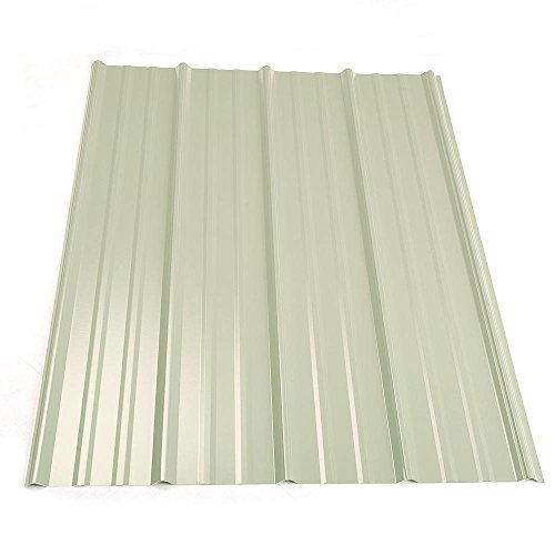 - 14 ft. Classic Rib Steel Roof Panel in White