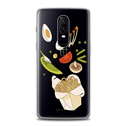 Lex Altern TPU Case for OnePlus 7 Pro 6T 6 2019 5T 5 2017 One+ 3 1+ Fresh Lunchbox Lightweight Pasta Slim fit Lady Print Cover Eggs Clear Soft Desig Pepper Flexible Smooth Beans Gift Food Woman]()
